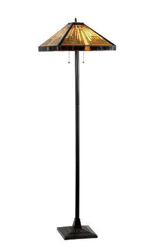 Innes Tiffany-Style 2 Light Mission Floor Lamp 18