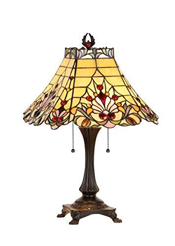 Abigale Tiffany-Style 2 Light Victorian Table Lamp 16