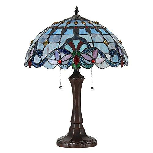 Grenville Tiffany-Style 2 Light Victorian Table Lamp 16