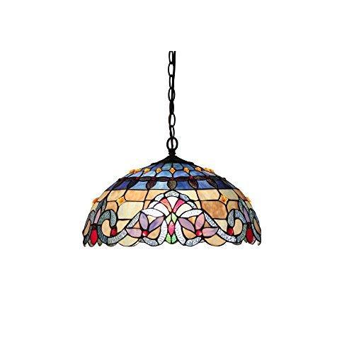 Chloe Lighting Grenville Tiffany-Style 2 Light Victorian Ceiling Pendant Fixture 18