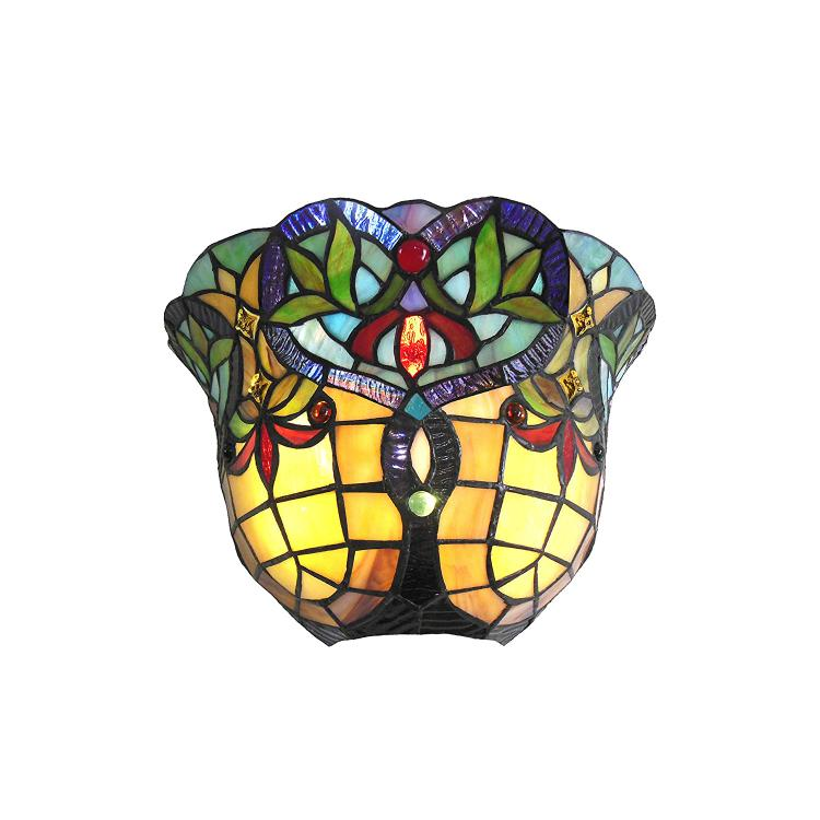 Bertram Tiffany-Style 1 Light Victorian Indoor Wall Sconce 12