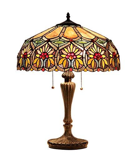 Sunny Tiffany-Style 2 Light Floral Table Lamp 18
