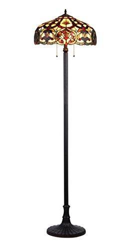 Sadie Tiffany-Style 2 Light Victorian Floor Lamp 18