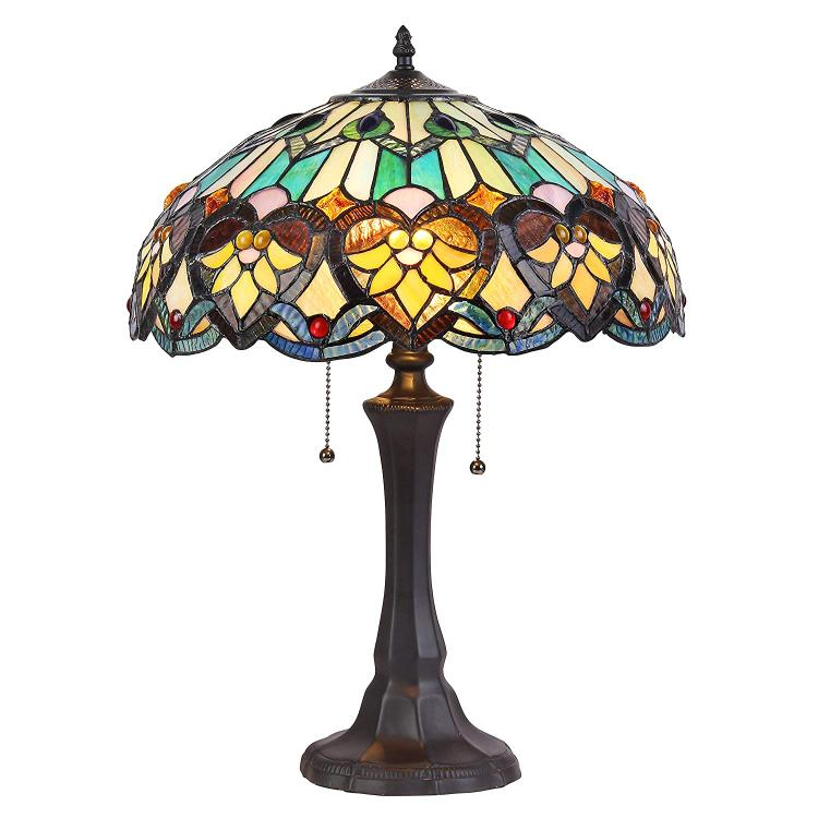 Kendall Tiffany-Style 2 Light Victorian Table Lamp 16