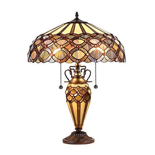 Prisma Tiffany-Style 3 Light Double Lit Table Lamp 18