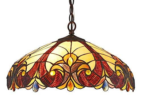Adia Tiffany-Style 2 Light Hanging Pendant Fixture 18