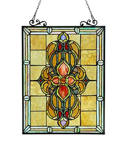 Avalon Tiffany-Glass Victorian Window Panel 18X25