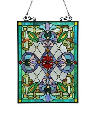 Izzy Tiffany-Glass Victorian Window Panel 18X25.5