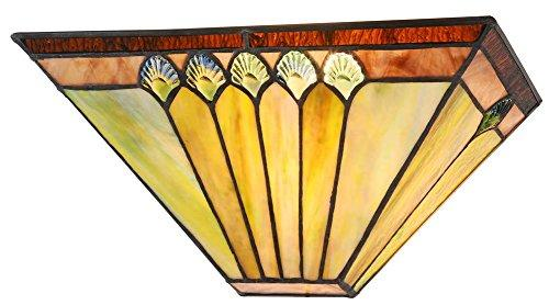 Graham Tiffany-Style 1 Light Mission Indoor Wall Sconce 12