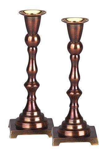 Decorative Copper Finish Holiday/Sabbath Candle Sticks