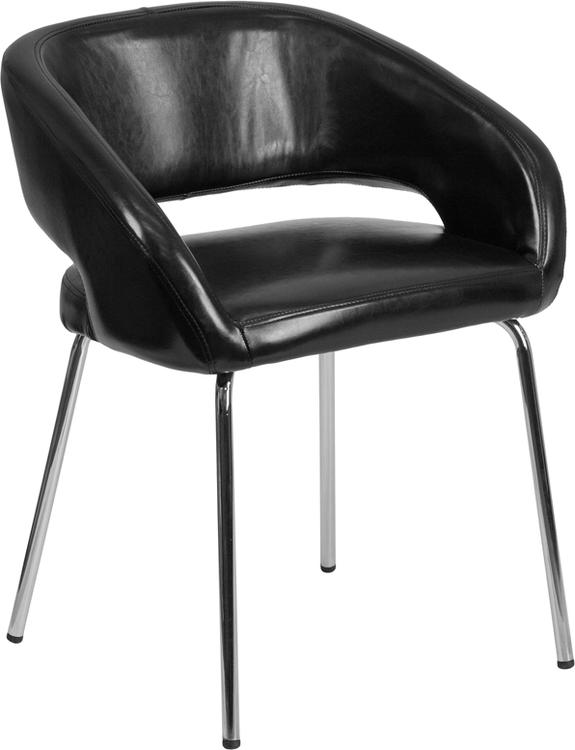 Fusion Series Contemporary Leather Side Reception Chair