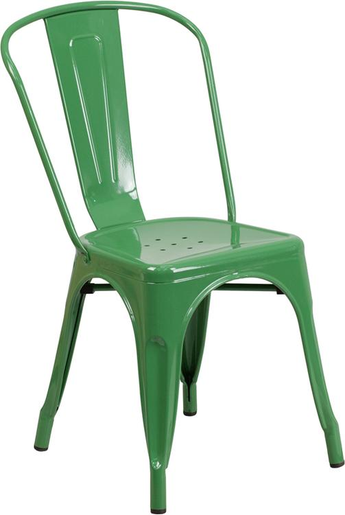 Flash Furniture Metal Indoor-Outdoor Stackable Chair