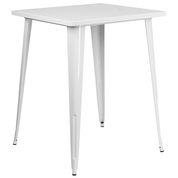 Square Metal Indoor-Outdoor Bar Height Table