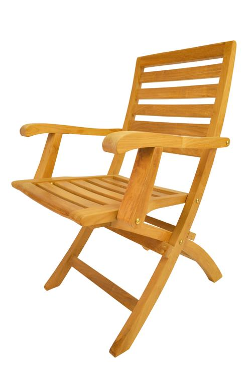 Anderson Teak Andrew Folding Armchair [Item # CHF-109]