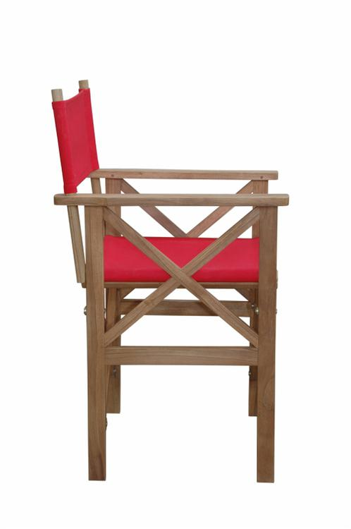 Anderson Teak Director Folding Armchair With Canvas
