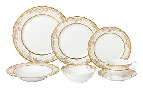 28 Piece Dinnerware Set-New Bone China Service for 4 People-Chloe