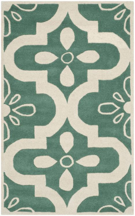Chatham Teal/Ivory Large Rectangle Rug