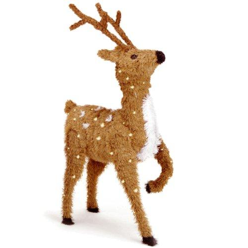 National Tree Prancing Reindeer with Clear Lights