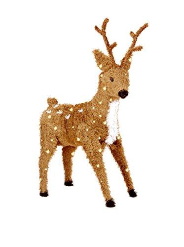 National Tree Standing Reindeer with Clear Lights
