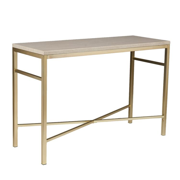 Southern Enterprises Orinda Faux Stone Console Table