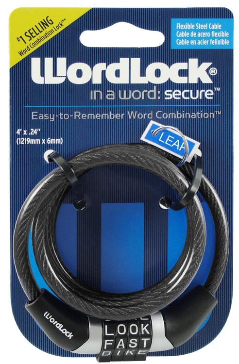 Cl-441-Bk Cable Lock 4' 6Mm