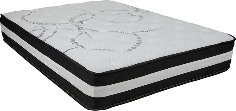 Flash Furniture Capri Comfortable Sleep 12 Inch Foam and Pocket Spring Mattress, Full in a Box