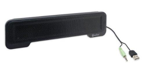 USB Powered Portable Stereo Sound Speaker Bar Mounts to Laptop Screen