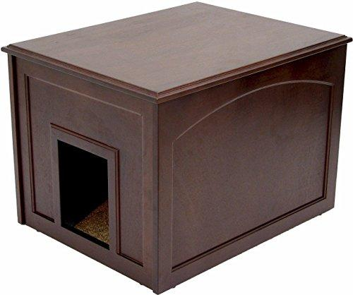 Crown Pet Cat Litter Cabinet with Espresso Finish