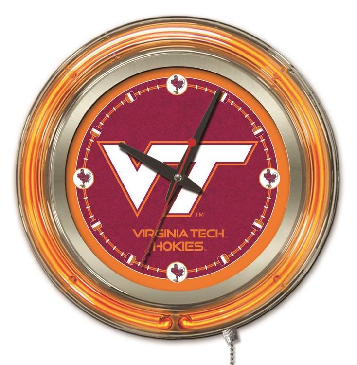 Holland Bar Stool Virginia Tech Neon Clock