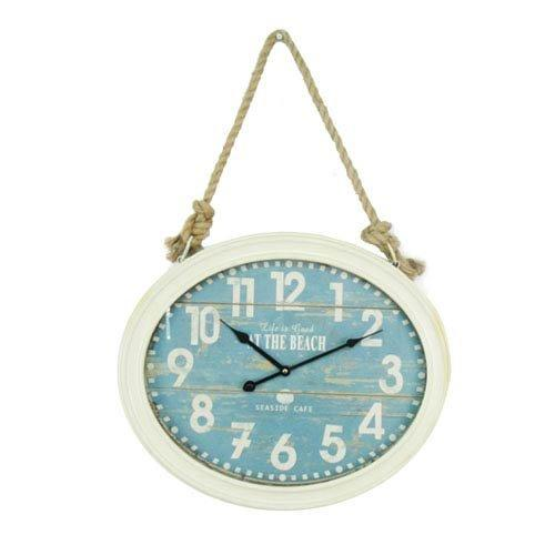 Clock on A Rope - Beach Wall Clock