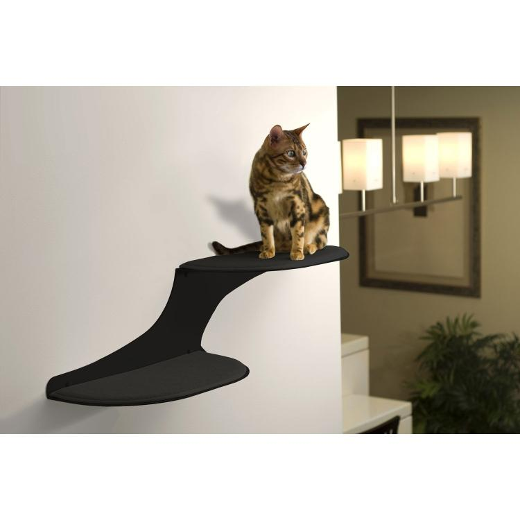 Cat Clouds Cat Shelf - Black - Right Facing