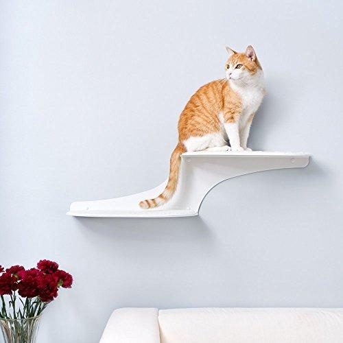 Cat Clouds Cat Shelf - White - Right facing