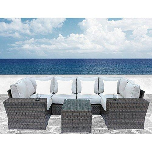 Lucca 9 Piece Cup Table Sectional Set