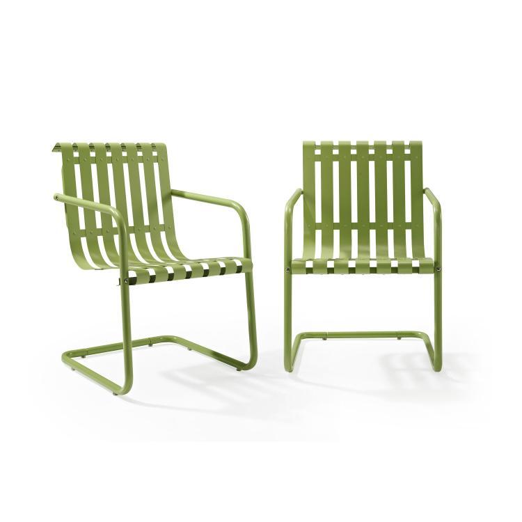 Crosley Gracie Stainless Steel Chair- 2 Piece/1Carton