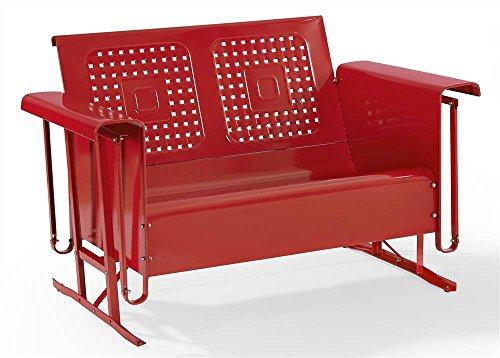 Crosley Bates Loveseat Glider In Red