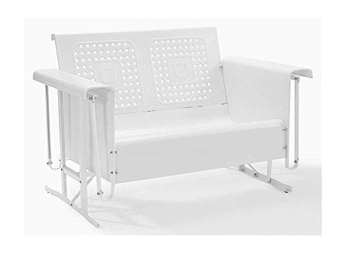 Crosley Bates Loveseat Glider In White