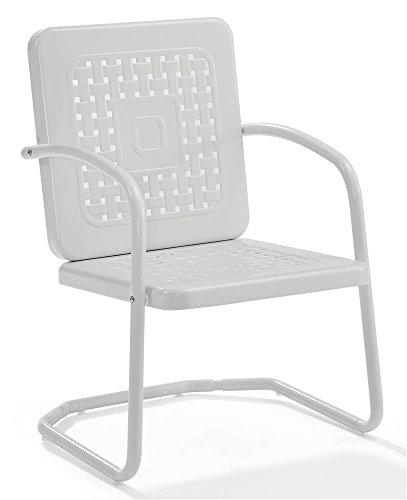 Crosley Bates Chair In White  (Set Of Two)