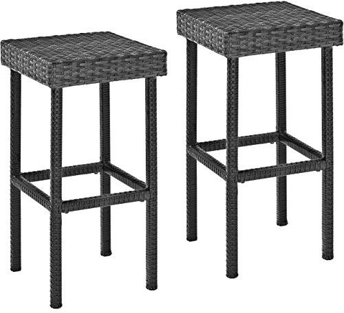 Crosley Palm Harbor Outdoor Wicker Bar Height Stool - Set of 2