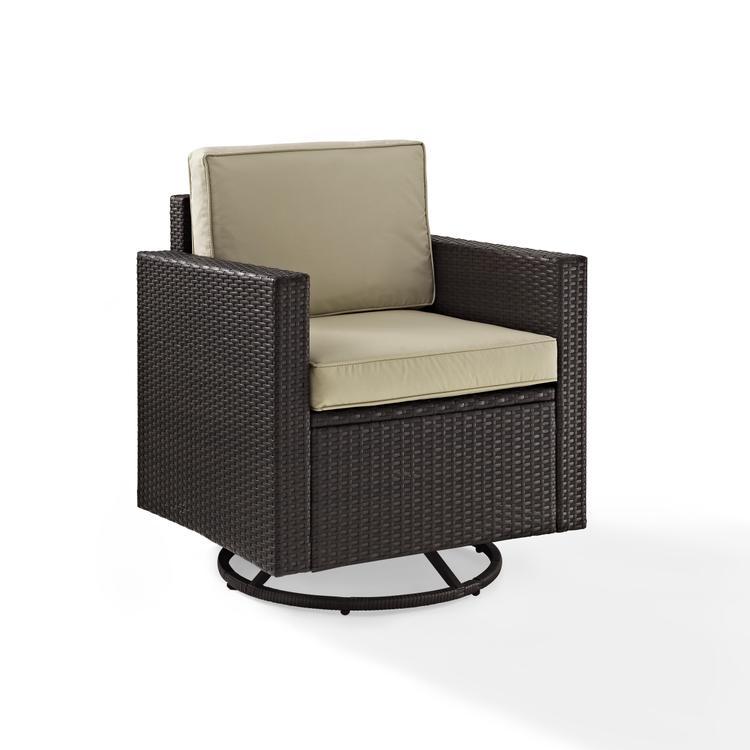 Palm Harbor Outdoor Wicker Swivel Rocker Chair
