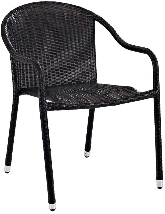 Crosley Palm Harbor Outdoor Wicker Stackable Chairs - Set of 2