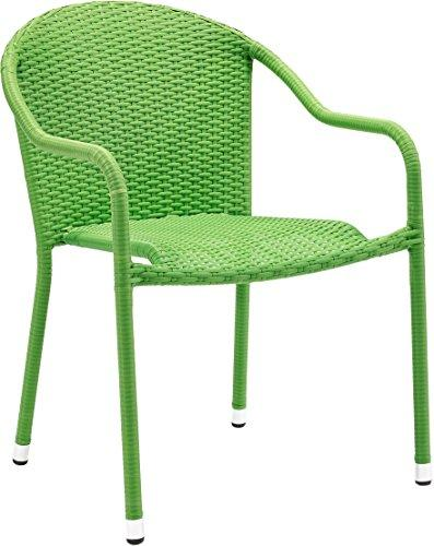 Crosley Palm Harbor Outdoor Wicker Stackable Chairs - Set Of 2 Green