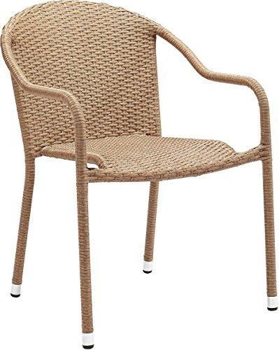 Crosley Palm Harbor Outdoor Wicker Stackable Chairs - Set Of 2 Light Brown