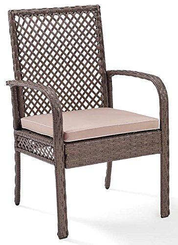 Crosley Tribeca Wicker Dining Chair - Set Of 4 [Item # CO7177DW-SA]
