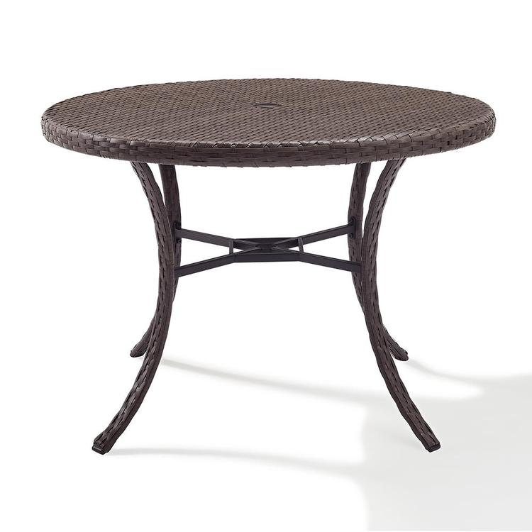Crosley Tribeca Wicker Round Table