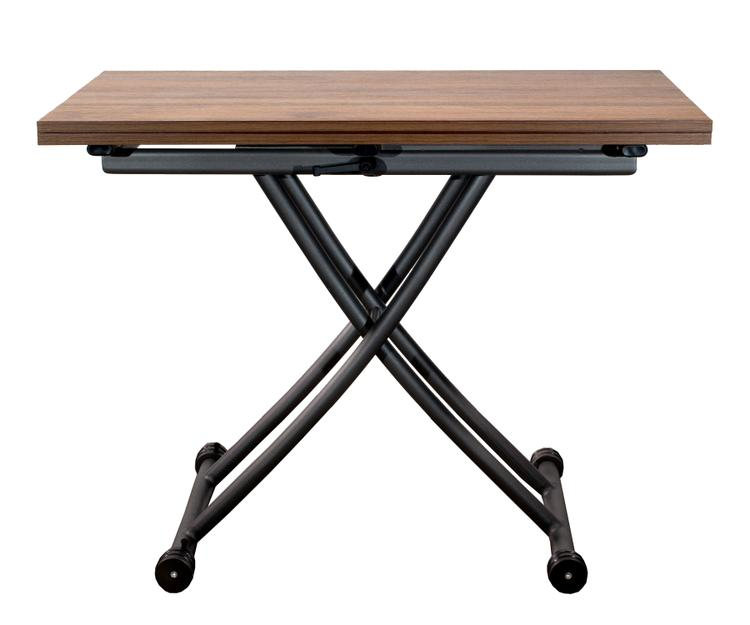 SpaceMaster Transforming X Coffee and Dining Table in Dark Oak Finish