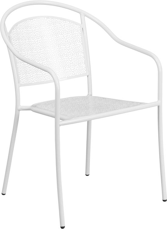 Indoor-Outdoor Steel Patio Arm Chair With Round Back