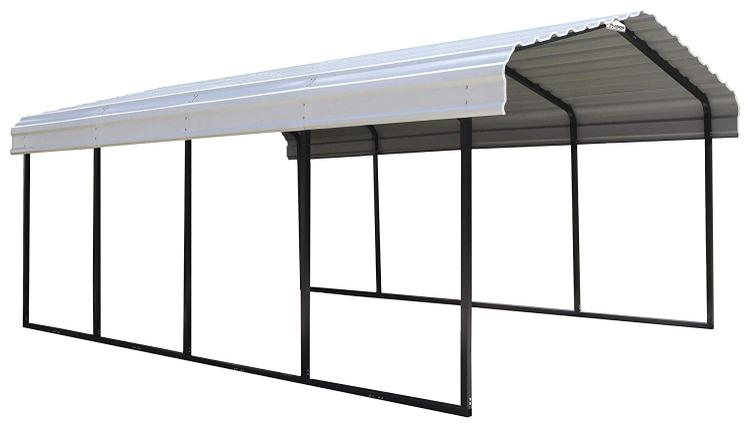 Arrow Sheds Arrow® Carport, 12x20x7, 29 Gauge Galvanized Steel Roof Panels, 2 in. (5 cm) Square Tube Frame [Item # CPH122007]