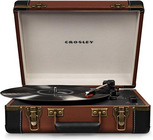 EXECUTIVE DELUXE PORTABLE USB TURNTABLE [Item # CR6019D-BR]
