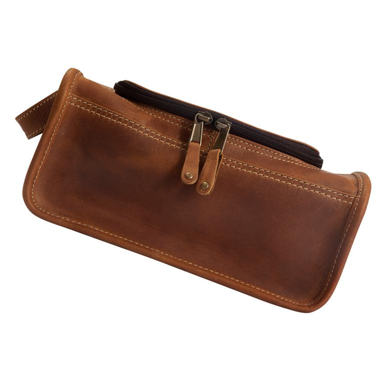 Canyon Outback Leather Taylor Falls Leather Toiletry Bag - Distressed Tan