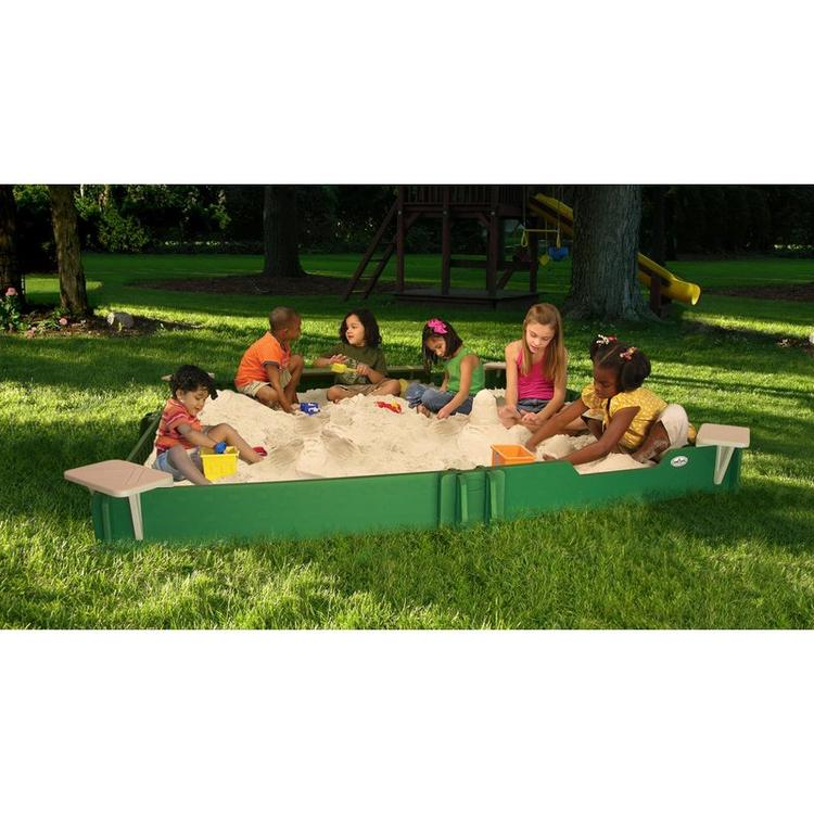 SandLock Square Sandbox with Cover